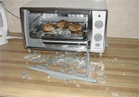 Exploding toaster oven